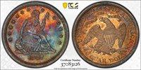 1867 25C PCGS Genuine