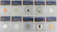 2018 S San Francisco Mint Silver Reverse Proof Set ANACS RP70 DCAM First Strike