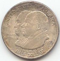 1923-S Monroe Doctrine Commemorative Half Dollar, AU-Unc Details