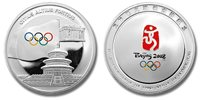 China 2008 Beijing Olympics 1 oz Silver Proof Color Medal