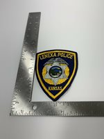 LENEXA KANSAS KS Sheriff Police Patch STATE SEAL Mounting material on back ~