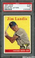 1958 Topps #108 JIM LANDIS PSA 9 MINT Very Low Pop 1/5! NONE higher! White Sox