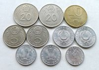HUNGARY LOT X 10 DIFFERENT: DATES 1969-1989, MIXED GRADES SOME HIGH.