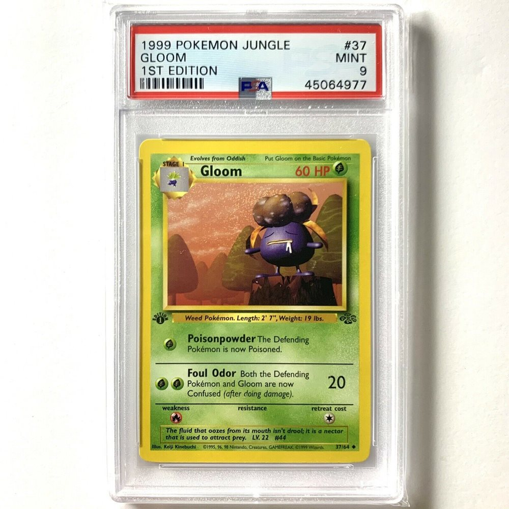 Gloom 37//64 1st Edition NM Near Mint Jungle Set Non-Holo Pokemon Card