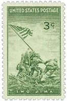 #929 – 1945 3c US Armed Forces: Iwo Jima
