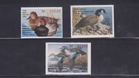 State Hunting/Fishing Revenues - IN - 1988-90 Duck Stamps - 3 Different - MNH