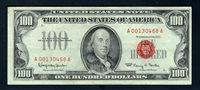 $100 1966 F1550. Granahan-Fowler. Extremely Fine. Serial A00130468.
