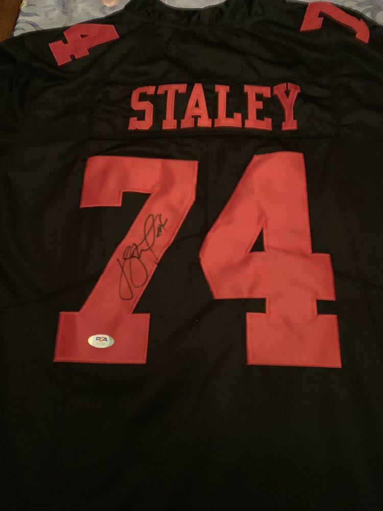 Joe Staley Signed Autographed Jersey Niners PSA/DNA Coa 49ers