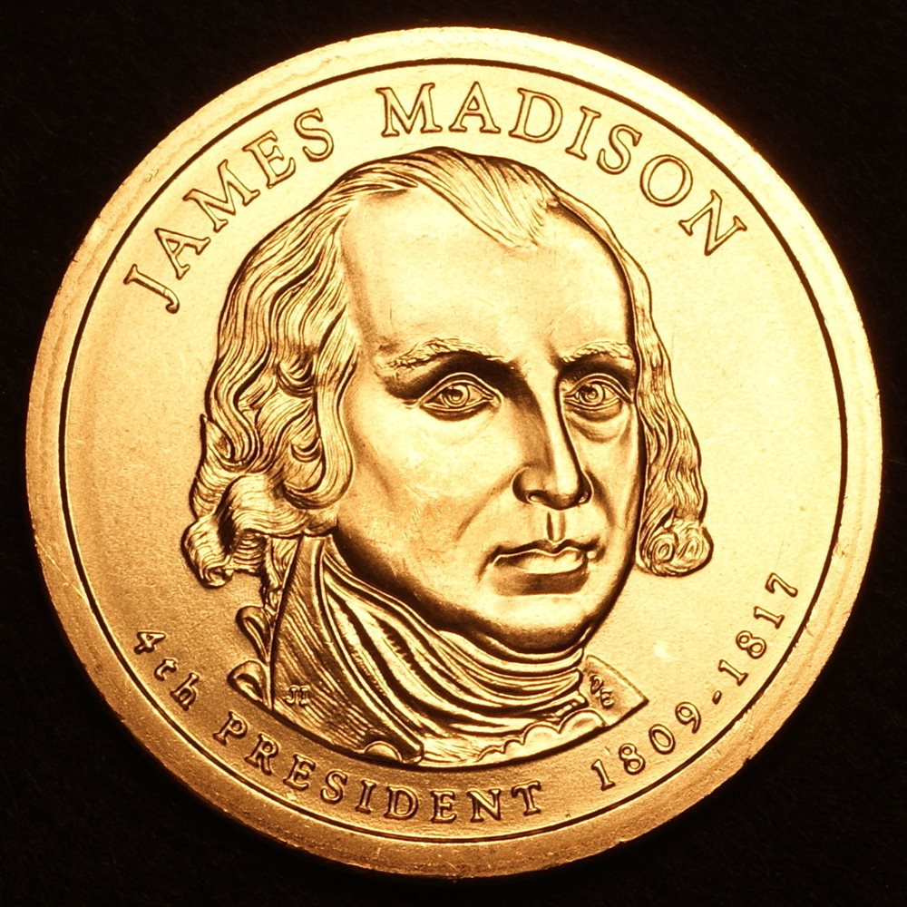 2007 P James Madison ~ Satin Mint Pos B from Mint Set