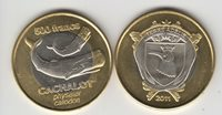 TERRE ADELIE (French) 500 Francs 2011 Whale, bimetal, unusual