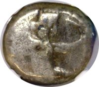 ACHAEMENID EMPIRE NGC VG 3/5 4/5 - 5th-4th BC CENTURIES AR SIGLOS HERO-KING 024