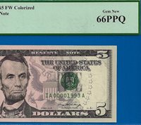 *2006 $5 FRN (( Birthday Note )) PCGS Gem-New 66PPQ # IA00001993A