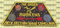 OA LODGE'S 45-312-432-494 SECTION W6W 2016 CONCLAVE STAR WARS THEME