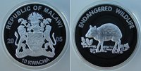 2005 Malawi Large Proof 10 Kwacha Endangered animals- Chevrotain Mouse-deer