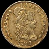 ON HOLD--$5.00 - 1803/2 PCGS AU55 CAC — Douglas Winter Numismatics