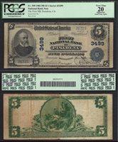 $5 1902-ND PASADENA (CA) CHARTER 3499 PCGS VERY FINE 20