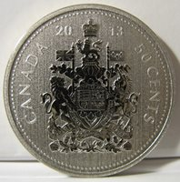 2008-50-cents Specimen Uncirculated Coat of Arms RCM