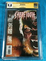 Sabretooth #4 - Marvel - CGC SS 9.8 NM/MT - Signed by Mark Texeira