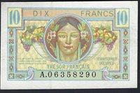 10 Francs 1947 France Trésor Français Série A