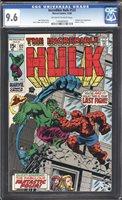 Incredible Hulk 122 CGC 9.6 Classic Cover!! Hulk VS THING FANTASTIC FOUR! WOW!