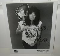 ACE FREHLEY SIGNED KISS PHOTO 8X10 MEGAFORCE PROMO ROCK SOLDIERS AUTOGRAPH