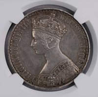 NGC-PRD 1847 GREAT BRITAIN GOTHIC TYPE CROWN SILVER PROOF