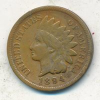 1894 INDIAN HEAD CENT-VERY NICE CIRCULATED CENT-SHIPS FREE! INV:2