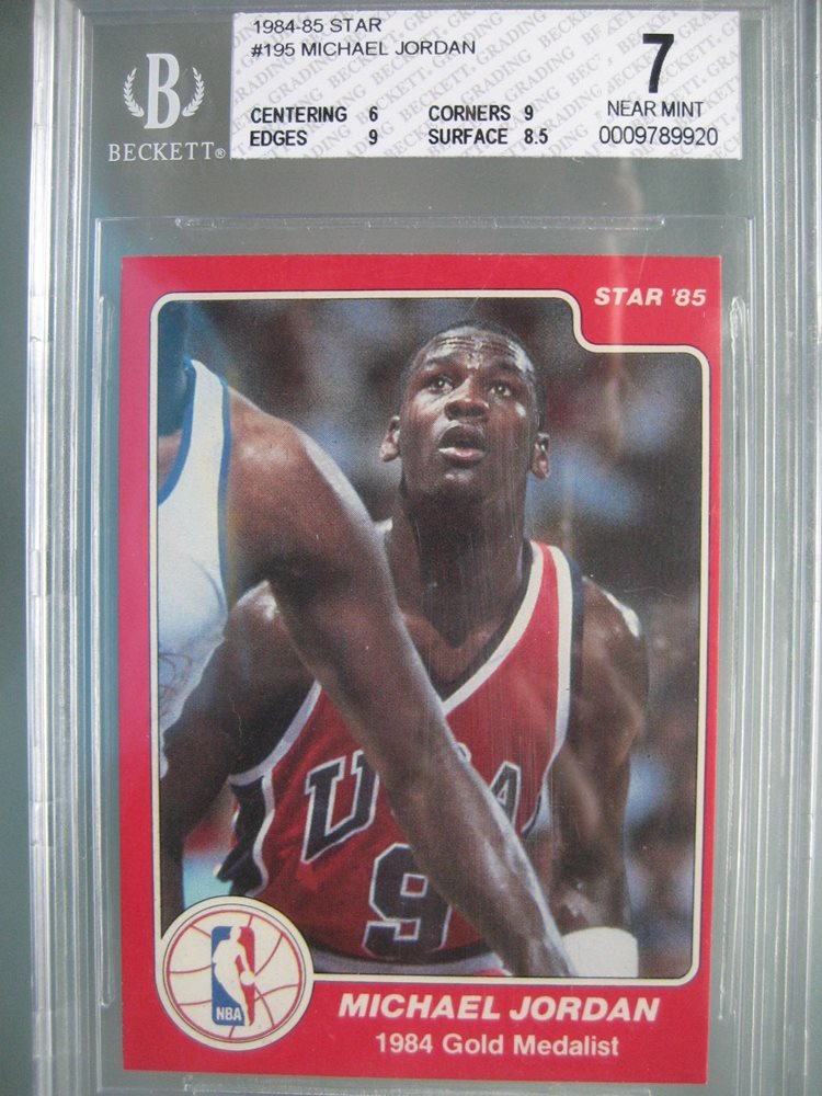 1984 85 Star 195 Michael Jordan Rookie Rc BGS 7 NM W