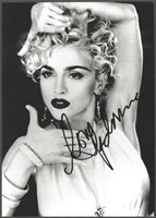 Madonna w/reproduction signature archival quality, 002