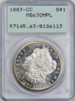 1883-CC $1 MS63DMPL PCGS