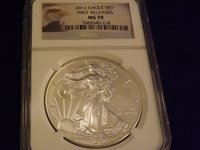 2012 Eagle First Releases NGC MS 70