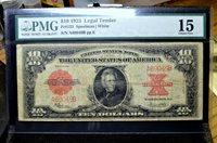 1923 $10 LEGAL TENDER NOTE ✪ PMG F-15 ✪ FINE US FR-123 POKER-CHIP L@@K ◢TRUSTED◣