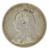 1901 CYPRUS SILVER 9 PIASTRES, VF