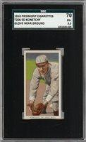 Rare 1909-11 T206 Ed Konetchy Glove Near Ground Piedmont 350 SGC 70 / 5.5 EX +