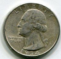 1934 D Washington Quarter AU55