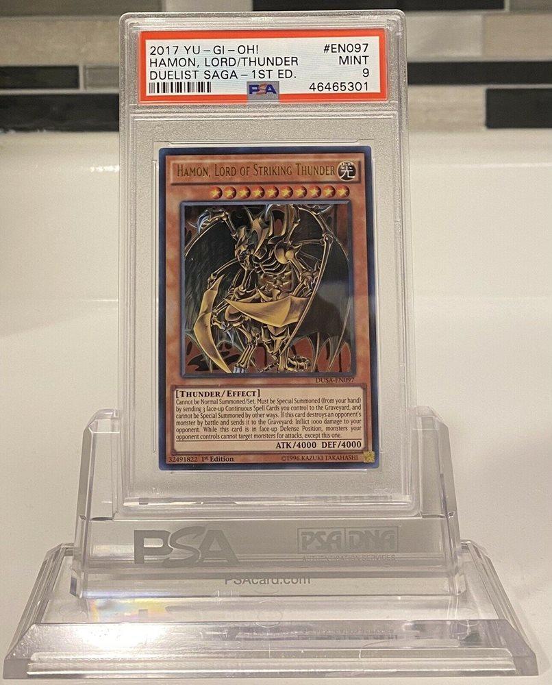 Hamon Lord Of Striking Thunder Duelist Saga EN097 PSA 9
