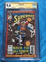 Superman #50 2nd - DC - CGC SS 9.4 NM - Signed by Jerry Ordway, Brett Breeding