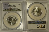 2015 P Saratoga NP Quarter 25c PCGS MS67 USA Flag