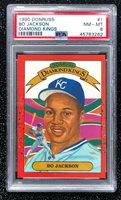 1990 Donruss Diamond Kings Bo Jackson #1 Baseball Kansas City Royals PSA 8 NM-MT