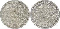 Pièce Maroc 20 Francs Mohammed V - 1347 H (1928) ESSAI