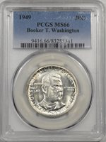 1949 BTW COMMEMORATIVE HALF DOLLAR PCGS MS-66 REALLY LUSTROUS!