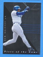 1d21a4dc73 1998 Pinnacle Plus Piece of the Game #1 Ken Griffey Jr. Mariners