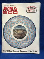 NASCAR 10th Annual World 600 1969 Souvenir Magazine Charlotte Motor Speedway