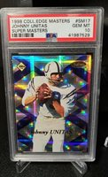 1998 COLLECTOR'S EDGE MASTERS PSA 10 SUPER MASTERS JOHNNY UNITAS #'D 1993/2000