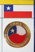 CHILE COUNTRY FLAG - FIFA SOCCER WORLD CUP LAPEL PIN BADGE .. NEW