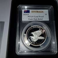 Mercanti 2014-P Australian Wedge-Tailed Eagle PCGS MS 69 John M