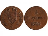 Pièce Lucca 2 Quattrini Armoiries - 1826