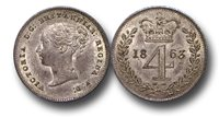 EM366 - Great Britain, Victoria (1837-1901), Silver Maundy Fourpence, 1863