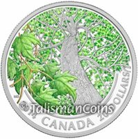Canada 2014 Maple Canopy Spring Splendor $20 1 Oz Silver Color Proof in FULL OGP