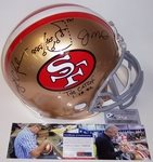 Dwight Clark / Joe Montana - Autographed Official Full Size Riddell Authentic Proline Football Helmet - San Francisco 49ers ThrowBack - PSA/DNA